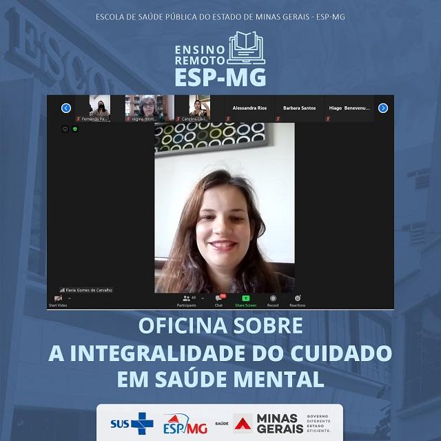 Superintendente de Educação e Pesquisa da ESP-MG, Flávia Carvalho.
